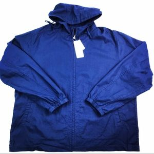 UNIQLO Men's Parka Jacket Navy full-zip XXL